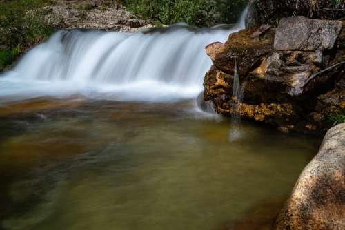 River Married Water Jump Landscape Manzanares