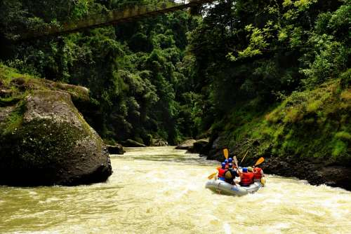 River Pacuare Rafting Jungle Adventure Nature