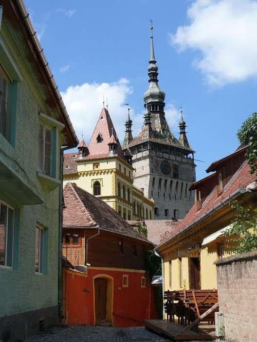 Romania Sighisoara Medieval Town
