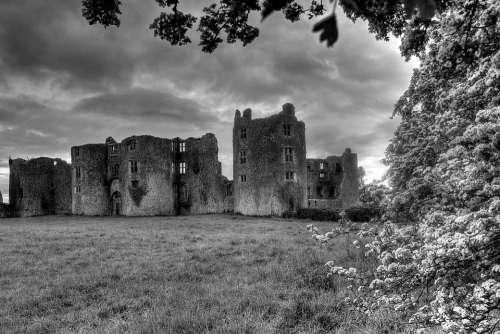 Roscommon Ireland Castle Ruin Landscape Hdr Castle