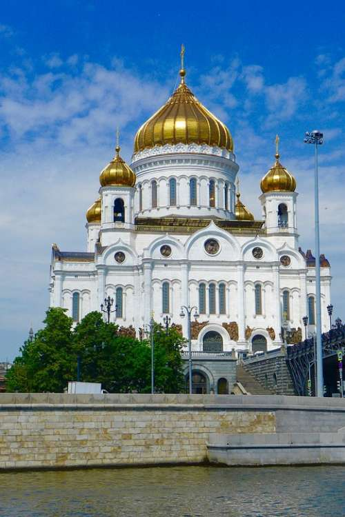Russia Moscow Architecture Cathedral Christ