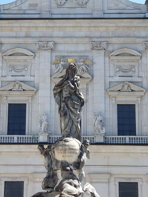 Salzburg Austria Statue