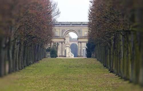 Sanssouci Castle Park Perspective Potsdam