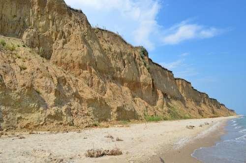 Sea Beach Wave Cliff The Picturesque Landscape