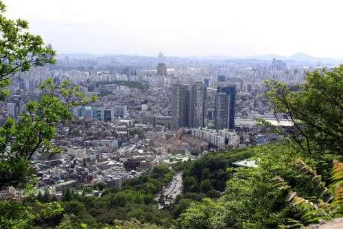 Seoul Cbd Republic Of Korea Korea City