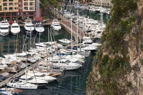 Ship Port Water Pier Ships Monaco