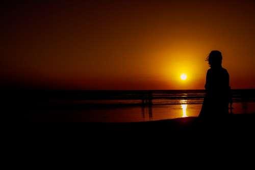 Silhouete Goa Sunset Beach Baga Beach