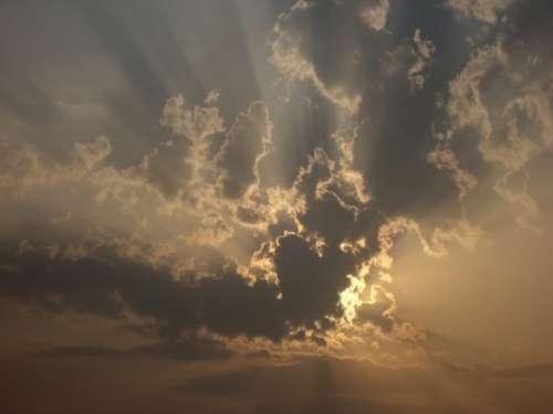Sky Sun Sunset Clouds Nature Evening