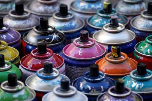 Spray Cans Color Cans Of Paint Spray Cans
