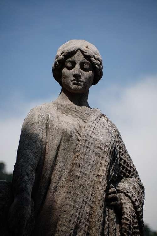 Statue Monaco Antique Figure Statues Melancholy