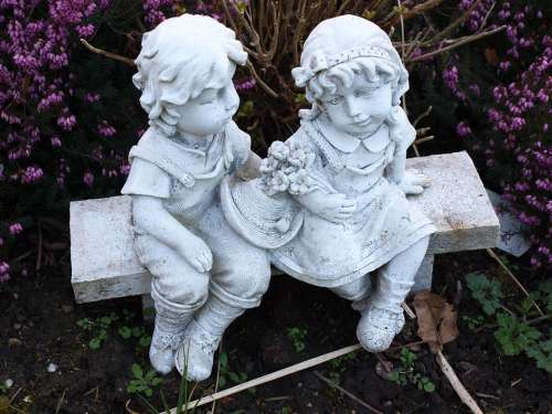 Statuette Angels Brother Child Figurine Spirit
