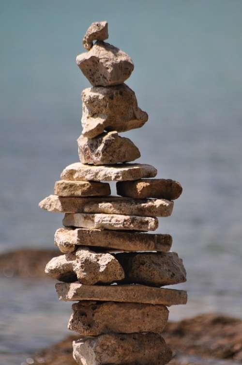 Stones Art Sculpture Figure Handmade Mystical