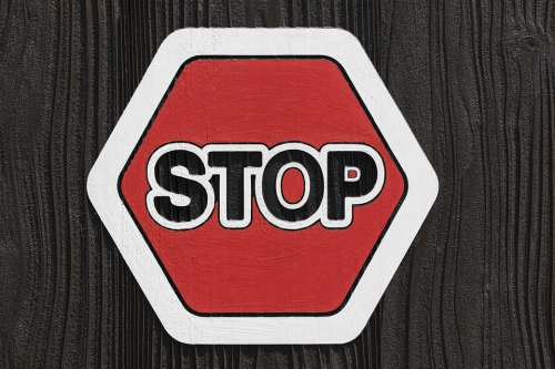 Stop It Warning Transportation Sign Safety Signal