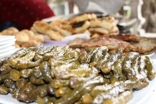 Stuffed Wrap Leaves Food Turkish Full Traditional