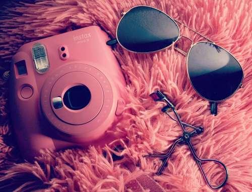 Style Glasses Instax Instaxmini Pink Eyelashcurler