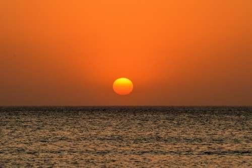 Sun Sunset Nature Beach Sea Denmark