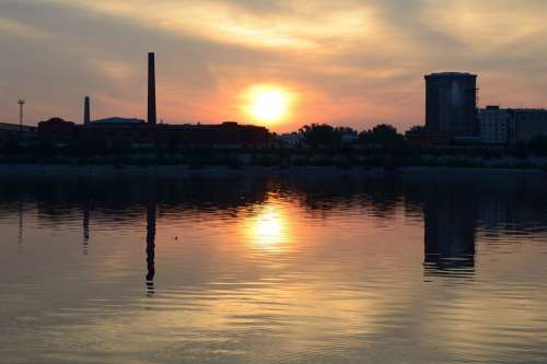 Sunrise Dawn River Sun