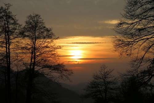 Sunset Nature Sunrise Evening Sky Scenic Dusk