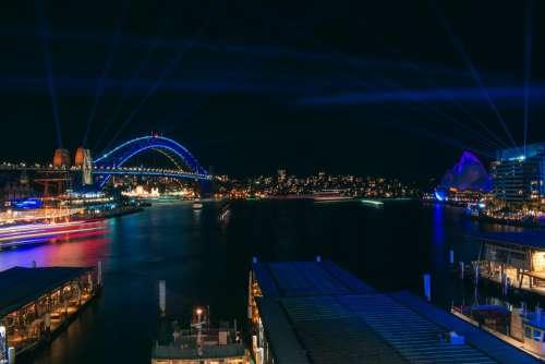 Sydney Cahill Expressway Night Circular Quay