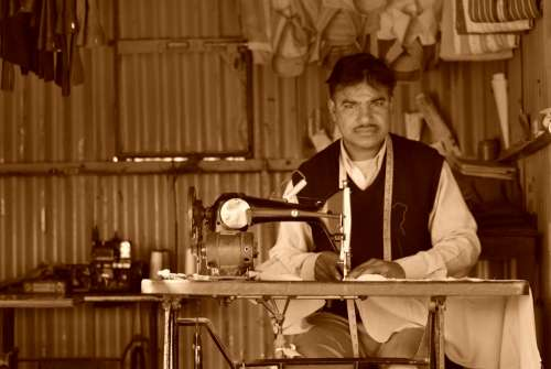 Tailor Rajasthan Man Small Shop Cultural Services
