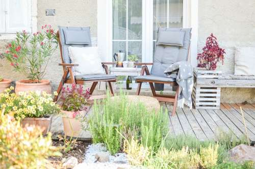 Terrace Garden House Terracotta Gardening Seating