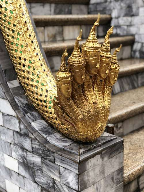Thailand Gold Buddha Temple Asia Buddhism Emerald