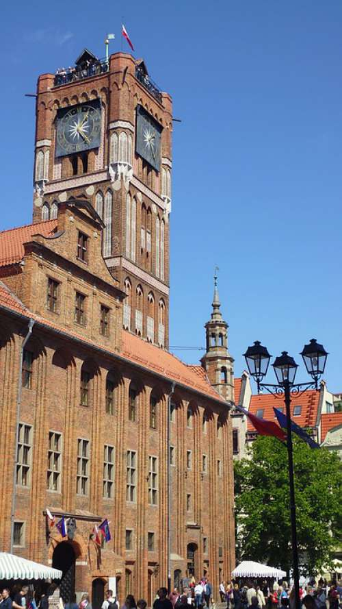 The Town Hall Toruń Poland Monuments Old