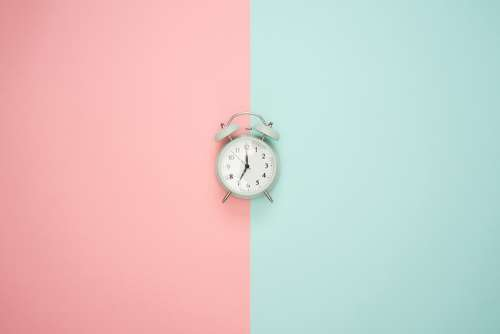 Time Clock Alarm Clock Pastel Colors Hour Watch