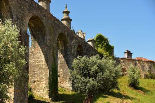 Tomar Portugal Architecture Aqueduct Bridge