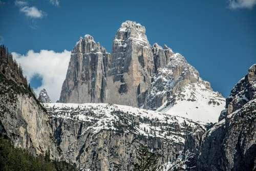 Tops Mountain Dolomites Tourism Winter