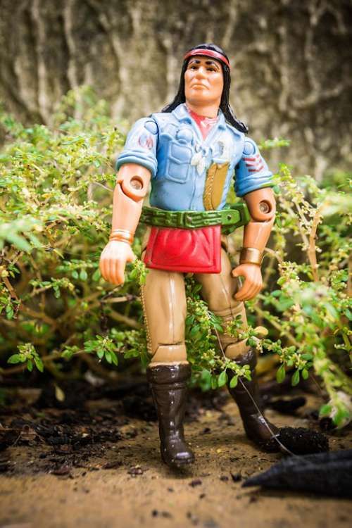 Toy Joe Action Figure Indian American Indian
