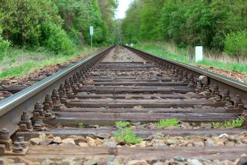 Track Ties Rail Railway The Threshold