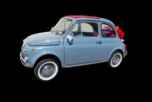 Transport Traffic Auto Oldtimer Fiat Isolated