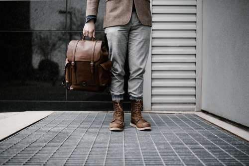 Traveler Traveller Hipster Bag Man Legs Journey