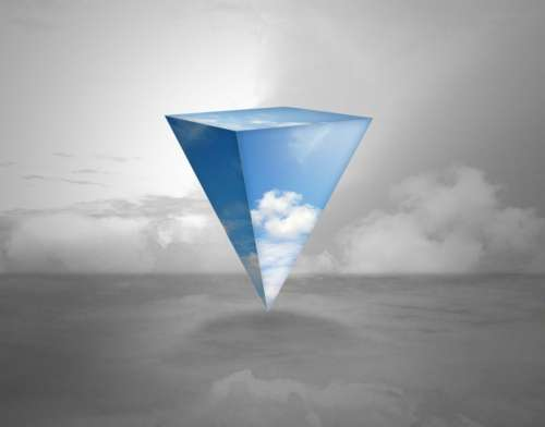 Triangle Sky Abstract Wallpaper Background Fantasy