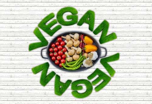 Vegan Vegetables Tomatoes Mushrooms Paprika Beans