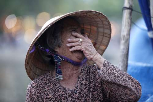 Vietnam People Person Woman Smile Old Lady