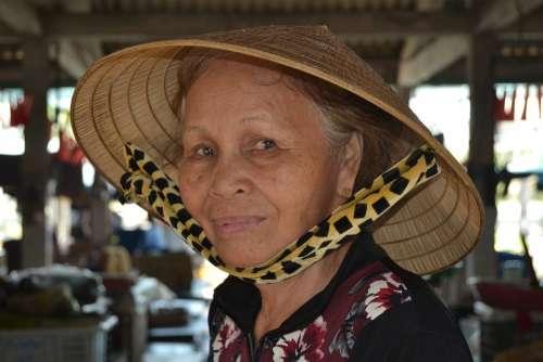 Vietnam Hoi An Face Old Age Look Portrait People