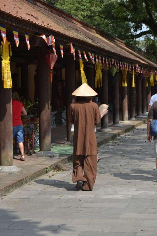 Vietnam Temple Monk Religion Culture Asia Path