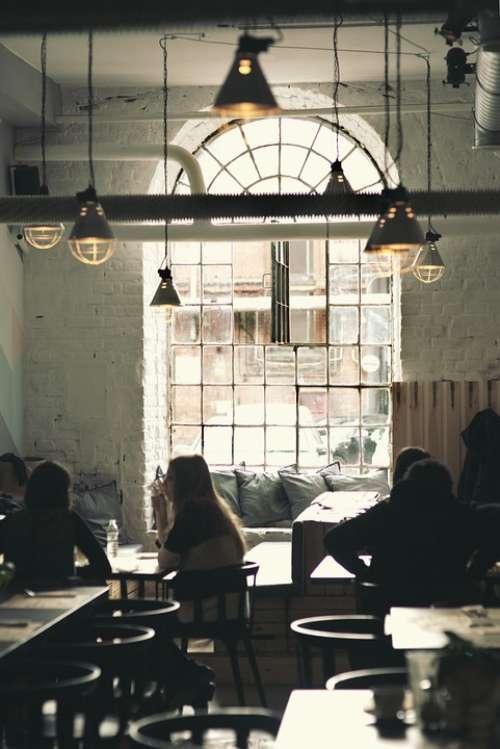 Vintage Restaurant Window Lamps Interior Design