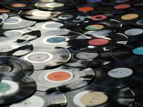 Vinyl Retro Plastic Old Black Music Disc Record