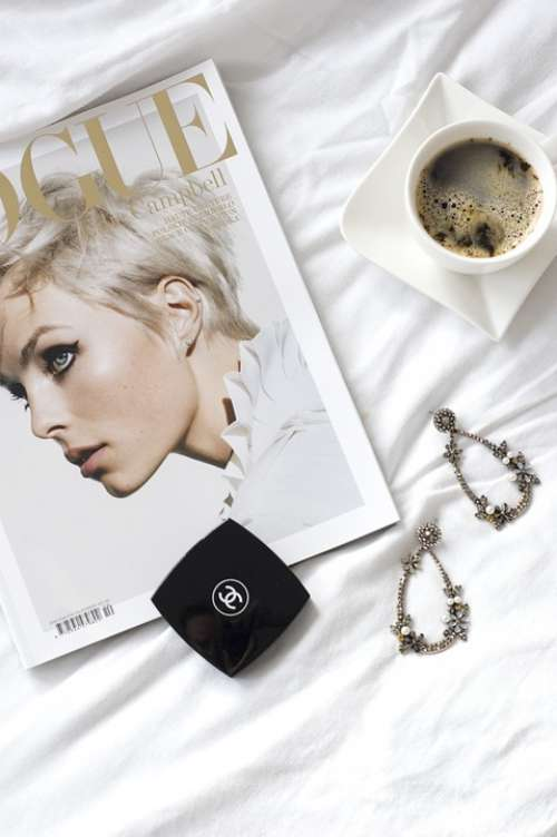 Vogue Magazine Fashion Beautiful Beauty Coffee