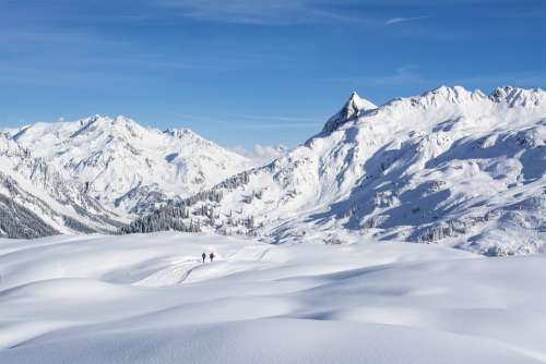 Vorarlberg Sun Head Klostertal Alpine Austria