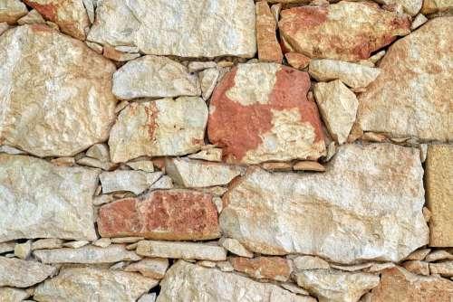 Wall Natural Stone Traditionally Crete Greece