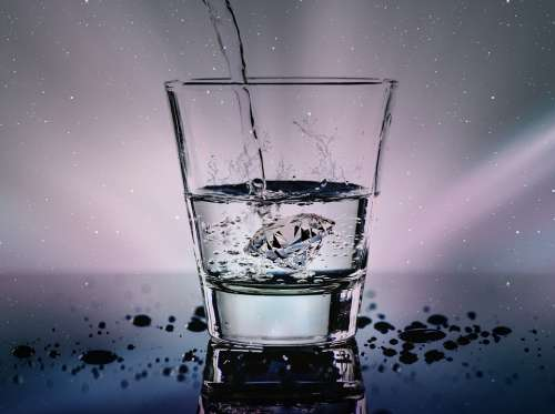 Water Glass Liquid Wet Refreshment Diamond Splash