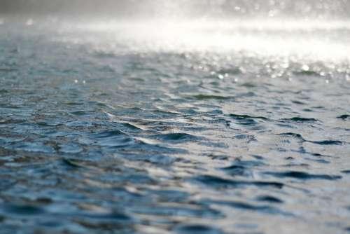 Water Waves Rain Blue Fountain Water Drop