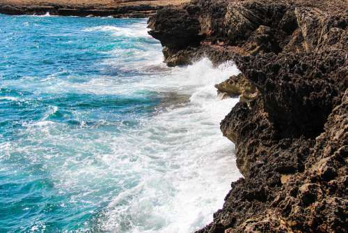 Water Coast Nature Boulders Summer Rock Sea