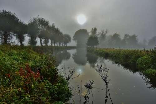 Water Fog Landscape Light