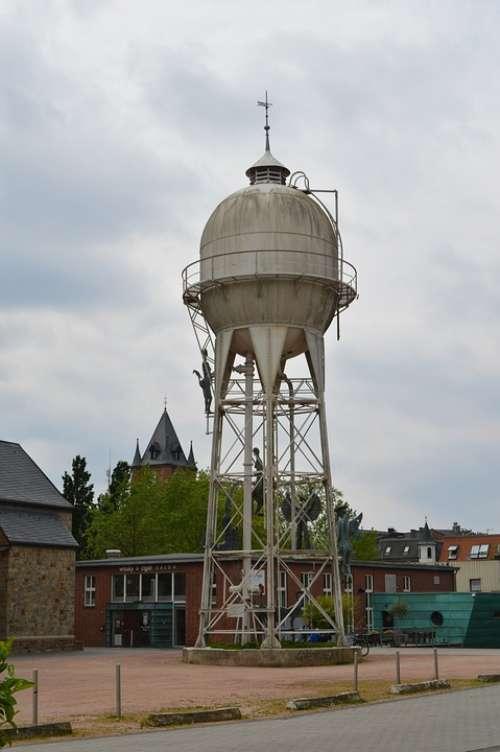 Water Tower Gronau Sky Steel Industry Technology