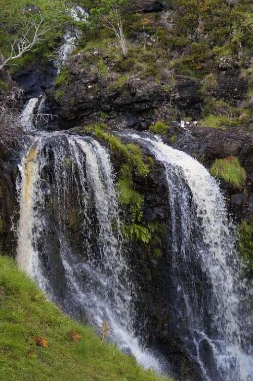 Waterfall Creek Landscape Nature Summer Water